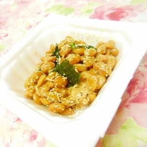 ❤けしの実と韓国海苔の胡麻納豆❤