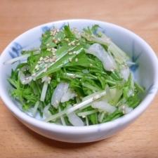白菜と水菜のシャキシャキ中華風サラダ