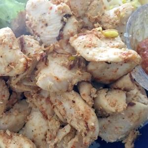鶏むね辛味噌の焼き