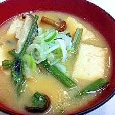 ナットウキナーゼを美味しく☆山菜タップリ納豆汁