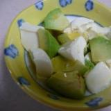 ごま油とレモン汁でさっぱり! アボカド豆腐☆