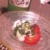ワインに日本酒に、鱧の湯引き大葉ジェノベーゼ