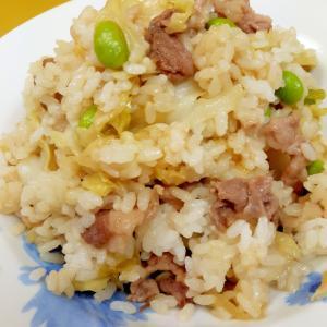 子供が大好き(^^)豚肉とキャベツの混ぜご飯♪