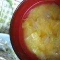 キャベツとナスの味噌汁