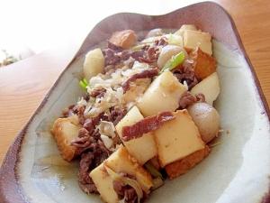 牛肉厚揚げ蒟蒻すき焼き