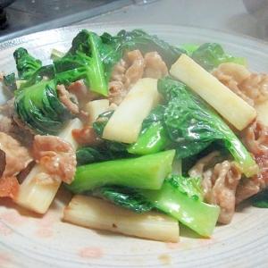 しゃりっと食感が美味しい☆豚と山芋の中華炒め♪