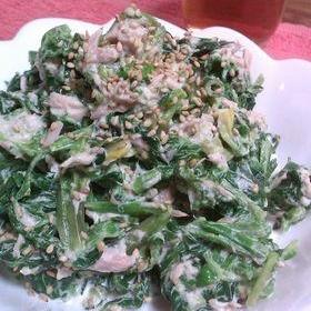 ほうれん草とツナの簡単サラダ