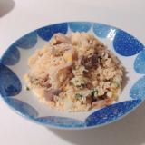 豚肉とコーンの炒飯