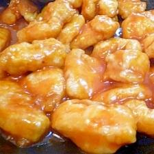 鶏胸肉のケチャップあん(エビチリ風)