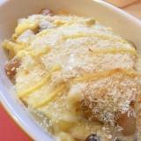 簡単!フライパンひとつでマカロニ豆乳グラタン!