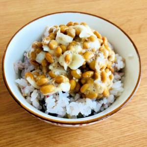 ネギの納豆の雑穀ご飯