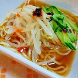 もやしときゅうりのせ✿ピリ辛❤冷麺