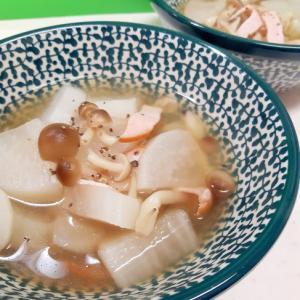 簡単ヘルシー(^^)大根とハムのごろっとスープ♪