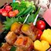 夏野菜の串焼きです☆麺つゆバター味で後引く旨さに♪