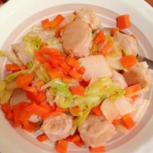 焼売アレンジ!白菜と人参のポン酢炒め