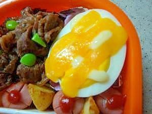 お弁当レシピ ゆで卵のマヨネーズチーズ焼き