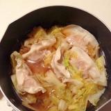 市販の餃子リメイクの餃子スープ