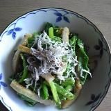 小松菜チクワしらすの酢味噌和え