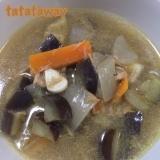 ツナとナスの冷製スープ