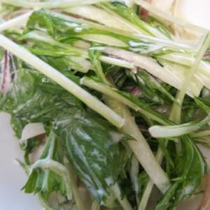 子どもはみょうが抜き!水菜とみょうがのマヨサラダ