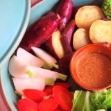 蒸し野菜の胡麻だれ