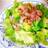 ブロッコリーのベーコンドレッシングサラダ