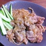 お弁当に!シリコンスチーマーで豚肉の生姜焼き風