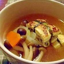 はさみ豆腐の煮込みスープ