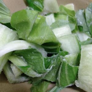チンゲン菜の冷凍