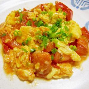 台湾のおふくろの味♪トマト入りたまご焼き