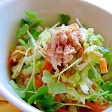 ゴーヤとツナのコールスローサラダ