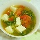 おかひじきとトマトのスープ