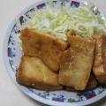 豆腐でヘルシー♪給料前のお助け節約ピリ辛ステーキ