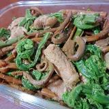 塩麹漬け豚肉と山菜の煮物