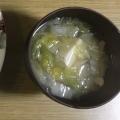 白菜 豆腐 長ネギの味噌汁