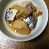 サバ缶と筍の煮物