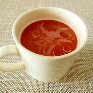 お腹と美容に!トマトとオリーブ油のあったかスープ♪