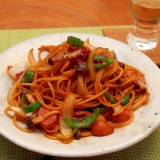 簡単シンプル!我が家のコク深ナポリタンスパゲティ
