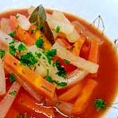 大根とにんじんのトマトスープ