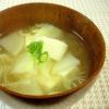 かぶと豆腐のすまし汁