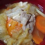 黒桃豚入り☆白菜鍋