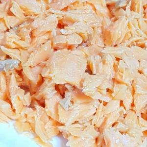 ★しっとり♡レンジで手作り鮭フレーク★