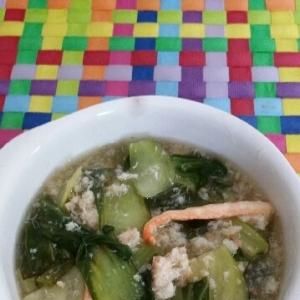 チンゲン菜とかにの生姜とろみ煮