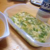 とき卵と韮のドレッシング味噌スープ