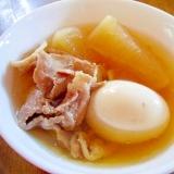 大根・卵・豚薄切り肉で 煮物