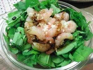 塩麹とバルサミコ酢のコラボ!甘エビのカクテルサラダ