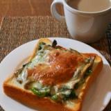 秋の味覚を朝食に♪マイタケのトースト