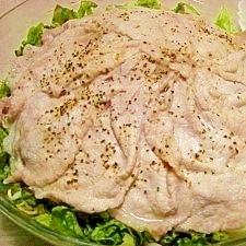 モヤシとキャベツ、豚肉のドーム蒸し