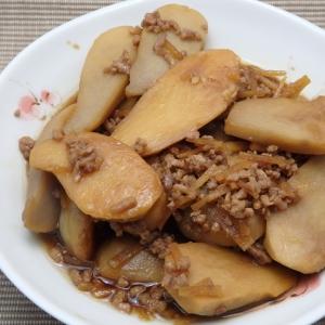 さといもと豚挽き肉の甘辛煮の作り方