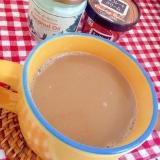 チョコとココナッツオイルのカフェオレ♡